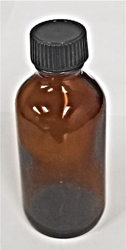 2 oz. Amber Bottle includes Black Phenol Cap with Poly Cone Liner