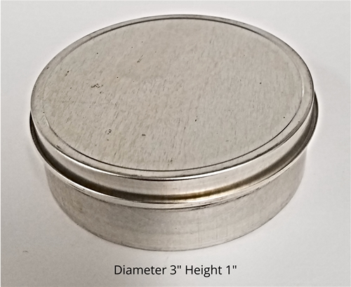 Four Ounce Shallow Metal Tin