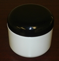 Double Wall Polypropylene Jars w/Black dome lids - 8 oz.